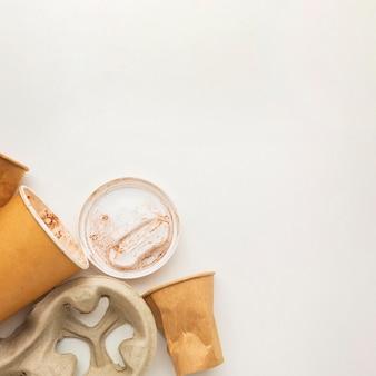 Gobelets en papier espace copie zéro déchet