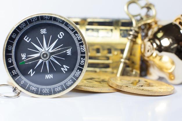 Golden compass guidant l'investissement des entreprises