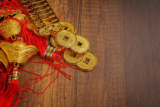 Golden ornement de lingots chinois
