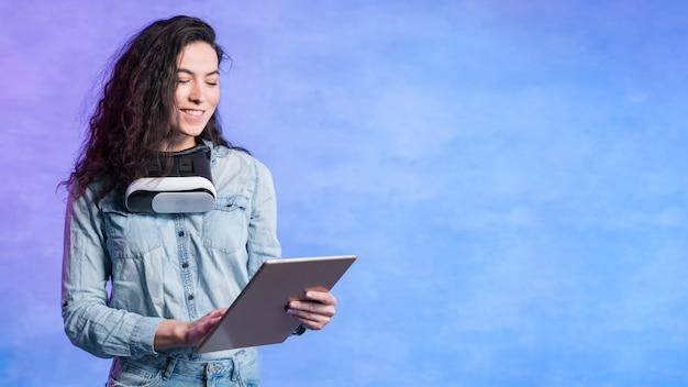 Googles vr et technologie de tablette numérique