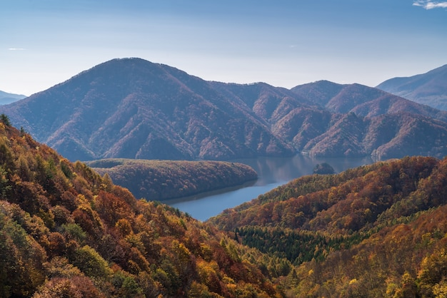 Gorge nakatsugawa du point de vue ligne du lac azuma