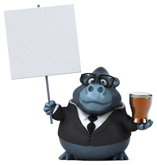 Gorille amusant - illustration 3d