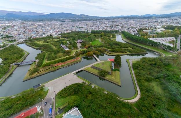 Goryokaku 5 étoiles vue de la tour goryokaku hakodate au japon
