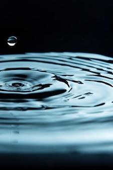 Goutte créant un effet d'entraînement dans le liquide