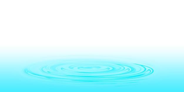 Une goutte d'eau bleue à la surface de l'eau illustration 3d