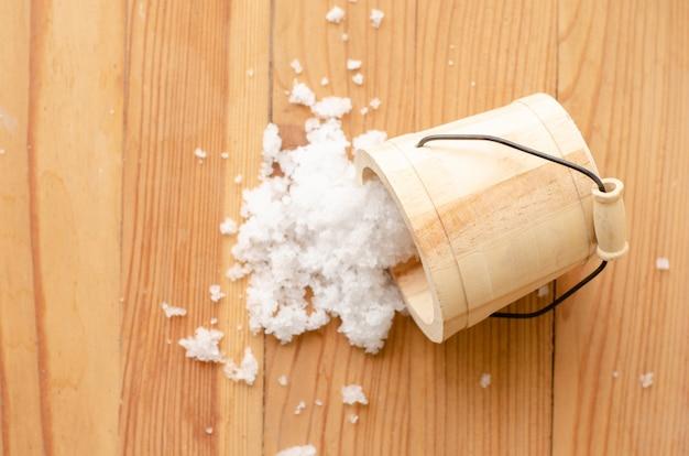 Goutte de sel du seau