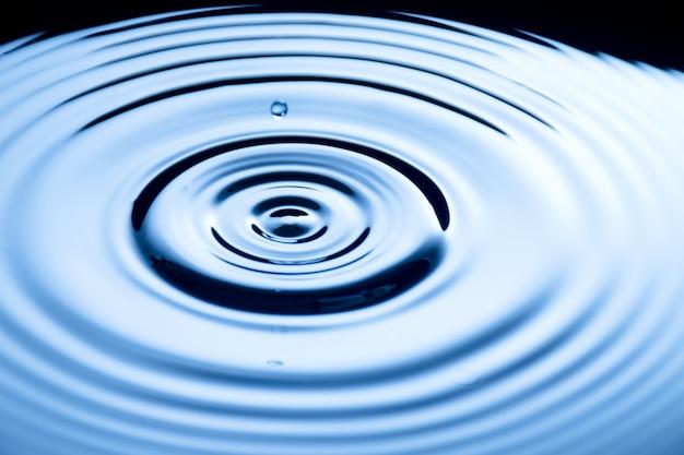 Gouttes d'eau claires, prêtes à boire et en gros plan