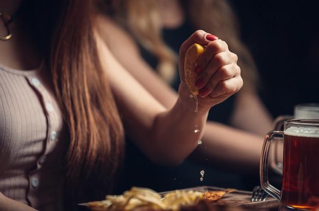 Gouttes de jus de citron