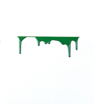 Gouttes de peinture colorée isolé sur fond blanc