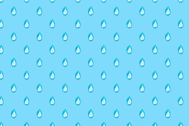 Gouttes de pluie sur motif bleu