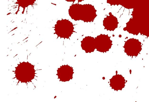Gouttes de sang sur blanc