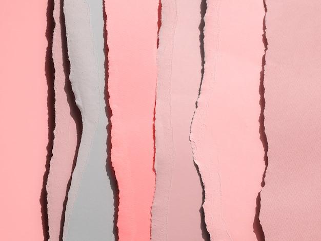 Gradient rose des bords abstraits de papier déchiré