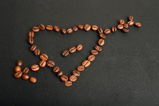 Graines de café, fond de grains de café