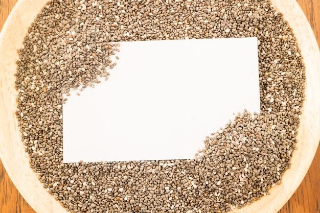 Graines de chia nutritives et carte de visite
