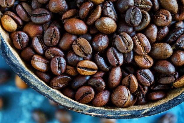 Grains de café. fermer