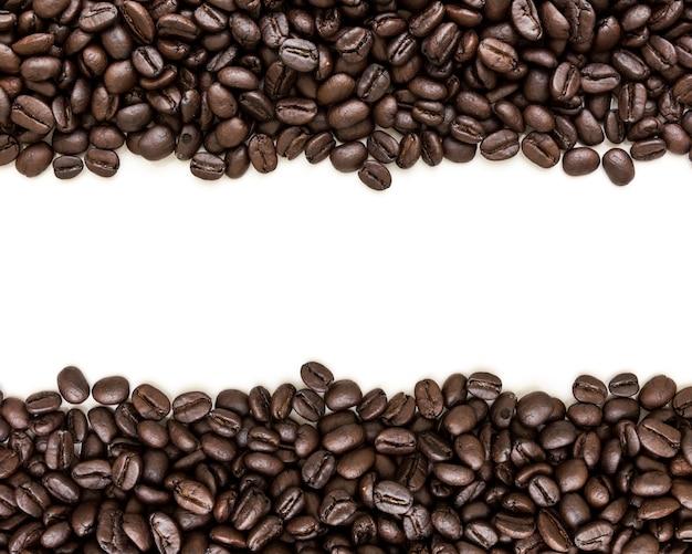 Grains de café avec fond