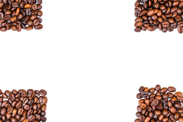 Grains de café haut vue copie espace
