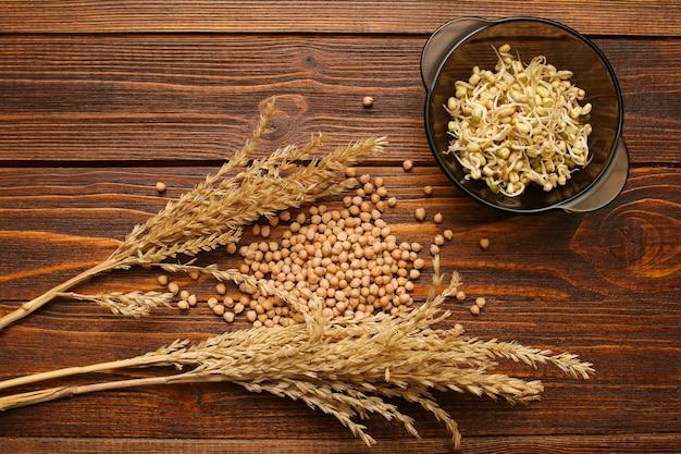 Les grains germés sont bons pour la santé. c