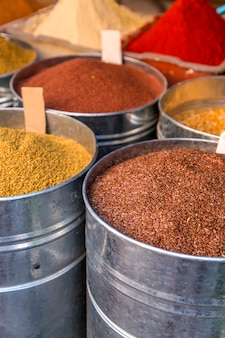 Grains sur le marché