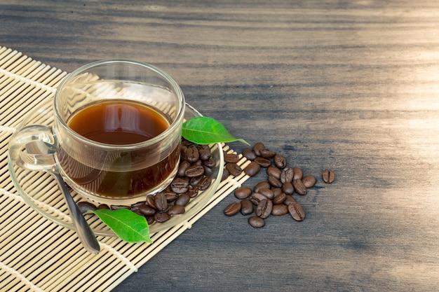 Grains de thé et de café