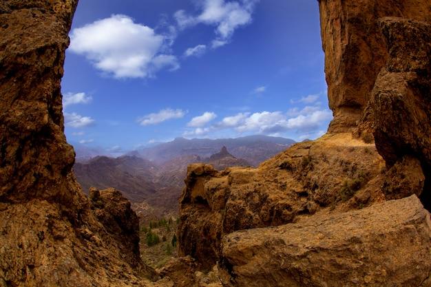Gran canaria la culata vue de roque nublo