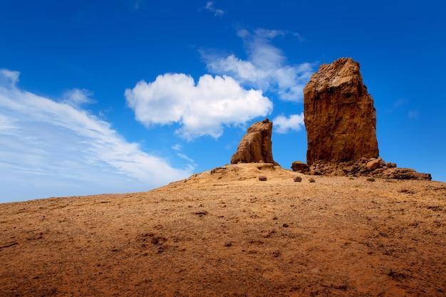 Gran canaria roque nublo ciel bleu