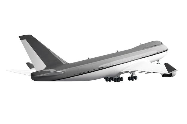 Grand avion de passagers isolé sur une surface blanche
