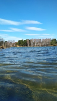 Grand beau lac au printemps