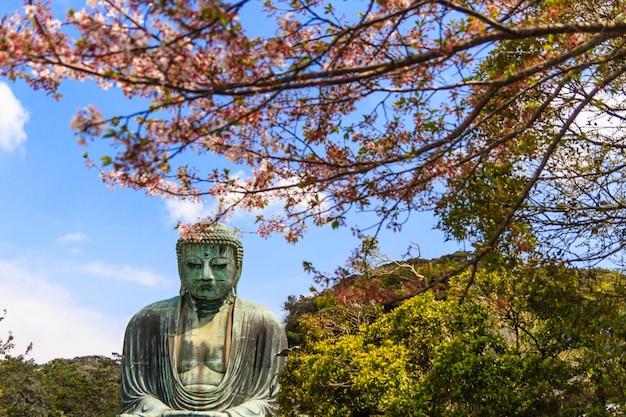 Le grand bouddha (daibutsu) sur le terrain du temple kotokuin à kamakura, au japon.