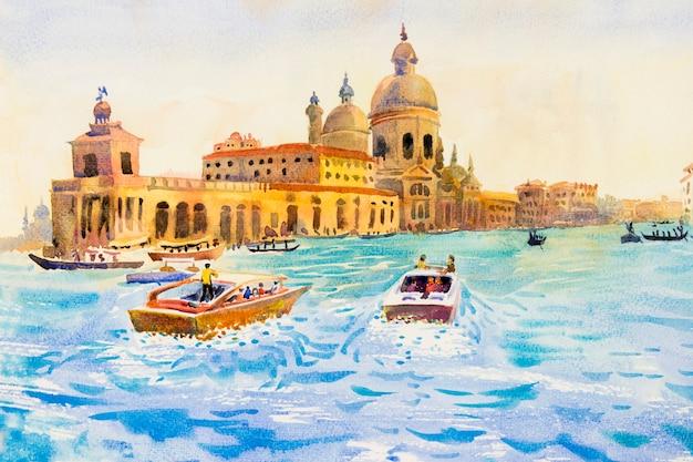 Grand canal à venise italienne.