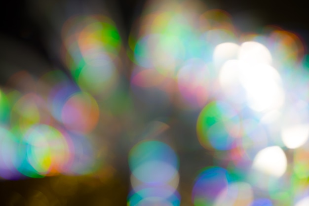 Grand effet bokeh arc-en-ciel multicolore