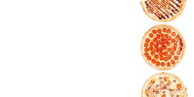 Grand ensemble de pizzas différentes