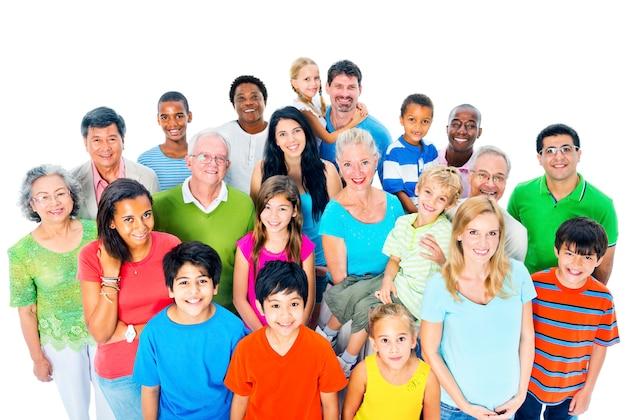 Grand groupe de personnes