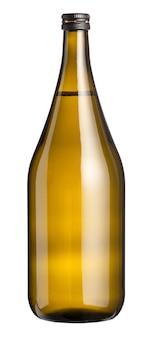 Grand magnum de vin blanc non étiqueté