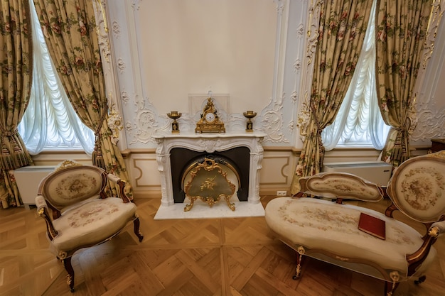 Grand palais menchikov 1710 à oranienbaum en automne lomonosov saint petersburg russie