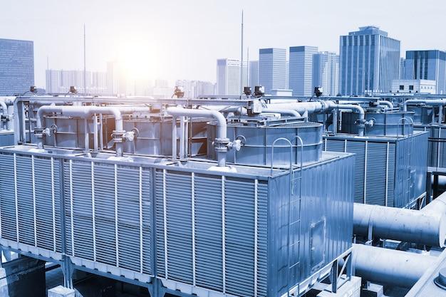 Grand pipeline de système de ventilateur de refroidissement pour système de climatisation central