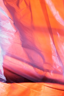 Grand plan, détail, de, sac plastique
