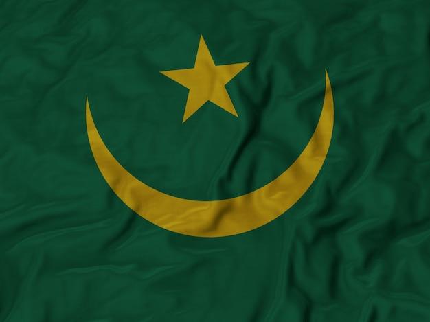 Grand plan, de, ébouriffé, mauritanie, drapeau