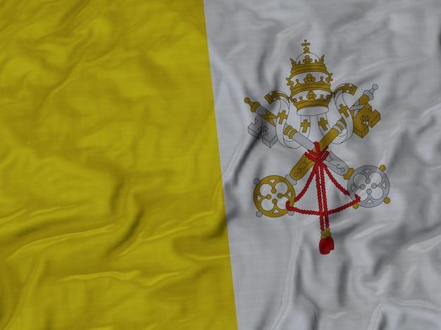 Grand plan, de, ébouriffé, vatican, drapeau