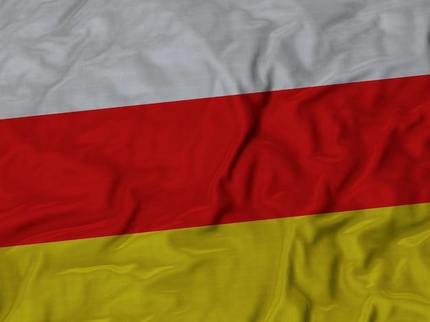 Grand plan, de, ondulé, sud, ossète, drapeau