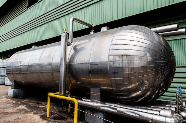 Grand réservoir chimique de dioxyde de carbone
