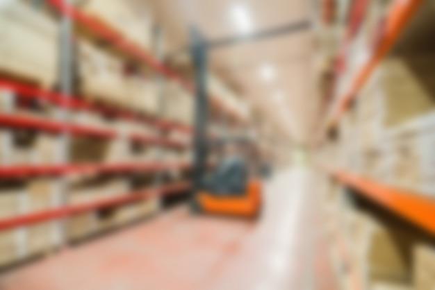 Grand thème d'entrepôt moderne flou fond