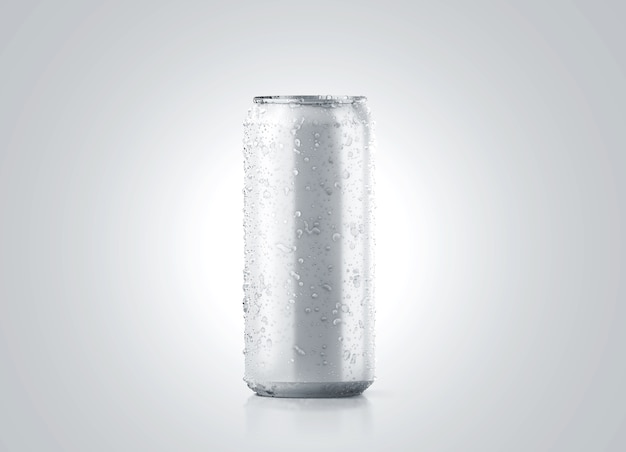 La grande bière en aluminium froide vierge peut maquette avec des gouttes