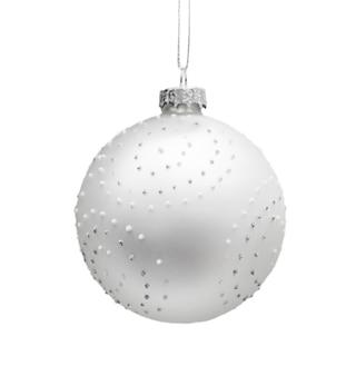 Grande boule de noël brillante isolée sur fond blanc. photo de haute qualité