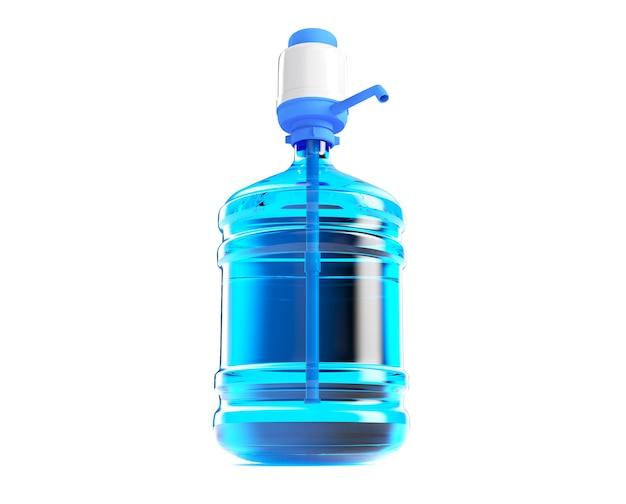 Grande bouteille de gallon de baril en plastique avec une poignée pour le bureau