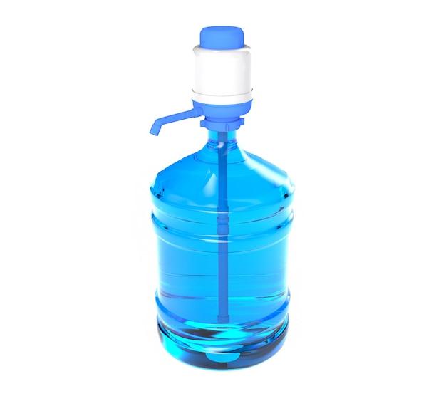 Grande bouteille de gallon de baril en plastique avec une poignée