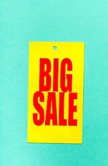 Grande étiquette de vente ou tag