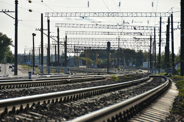 Grande gare pour les trains de marchandises dans la ville