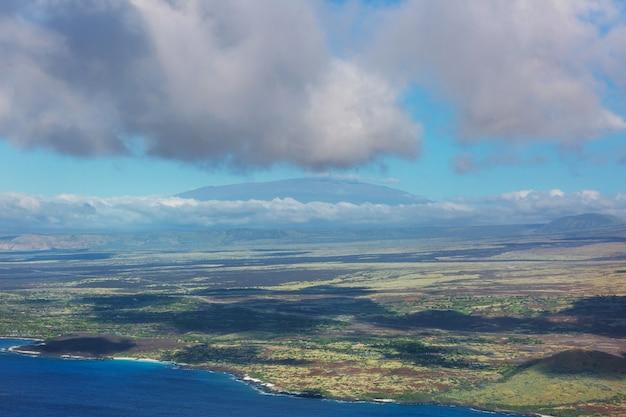 Grande île d'hawaï à partir de la vue aérienne