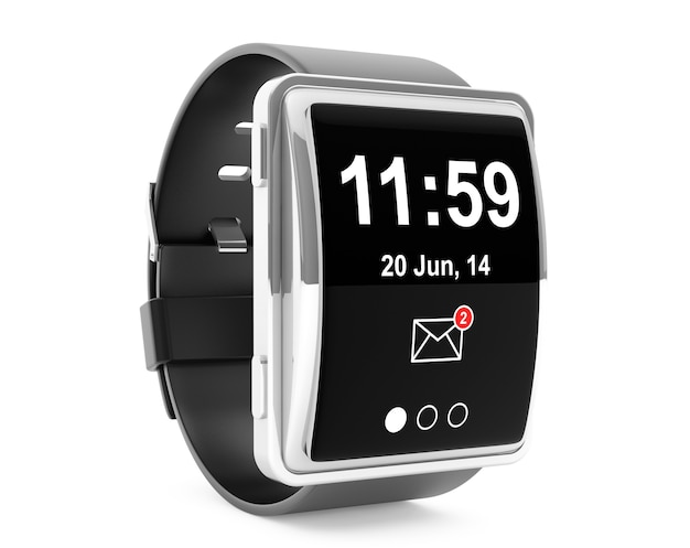Grande montre intelligente conceptuelle sur fond blanc